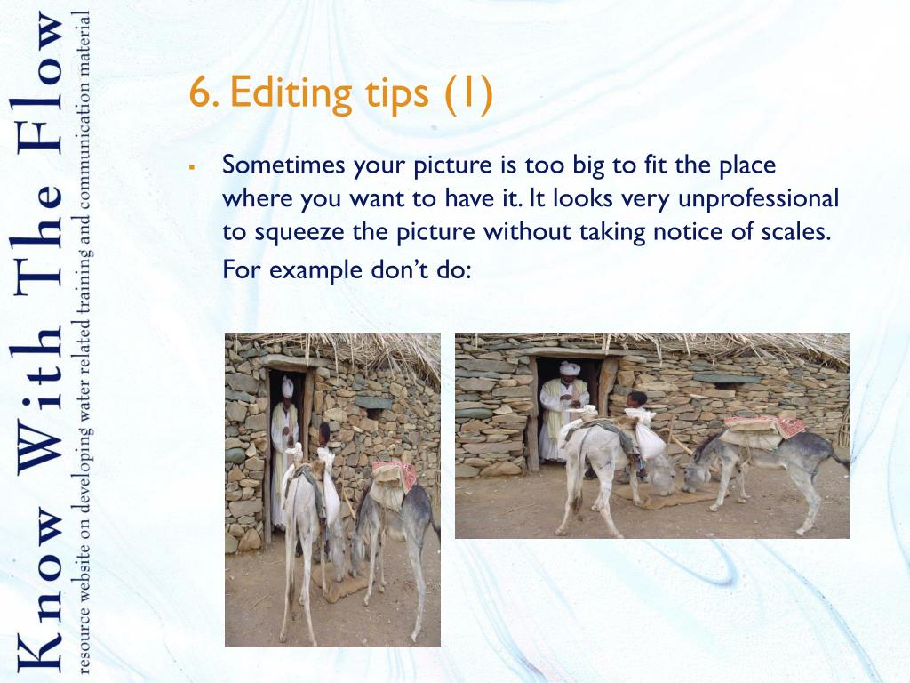 6. Editing tips (1)