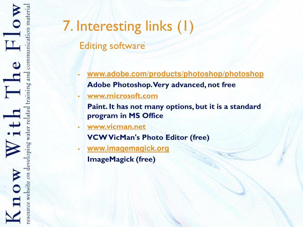 7. Interesting links (1)