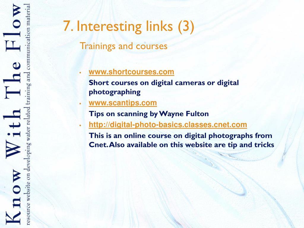7. Interesting links (3)