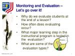 monitoring and evaluation let s go over it12
