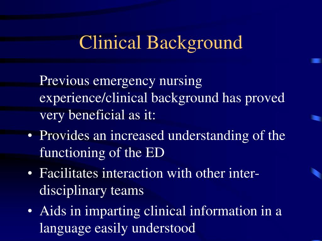 Clinical Background