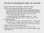 the human development index an overview