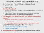 toward a human security index a2