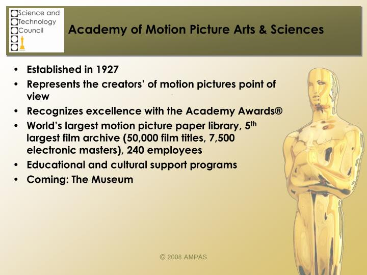 Academy of motion picture arts sciences