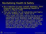 revitalising health safety