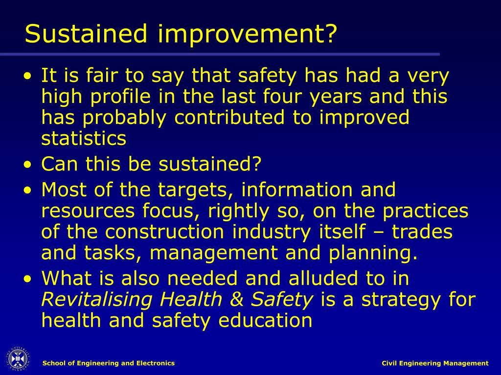 Sustained improvement?