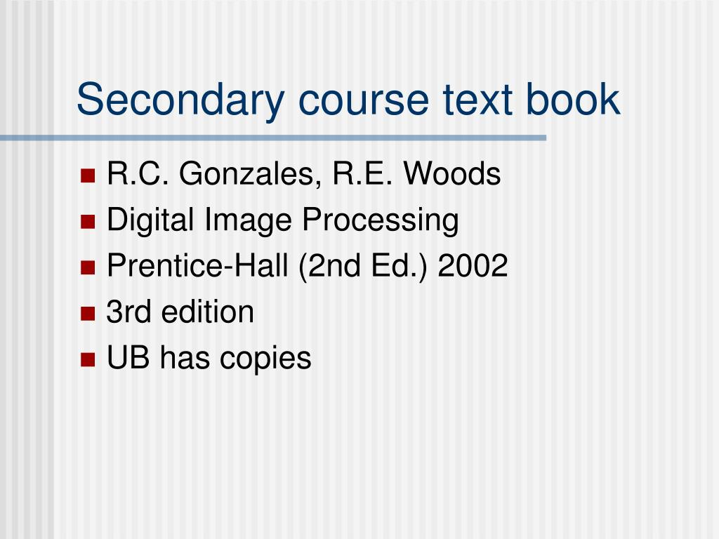 Secondary course text book