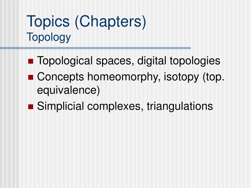 Topics (Chapters)