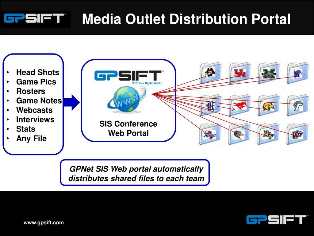 Media Outlet Distribution Portal