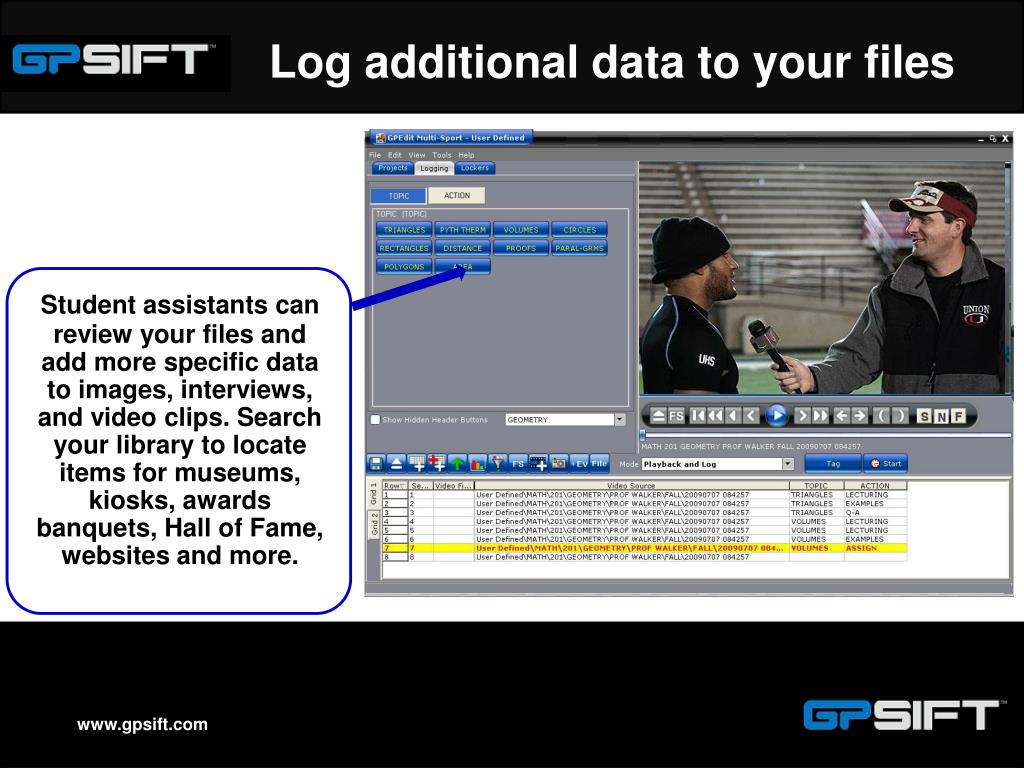 Log additional data to your files