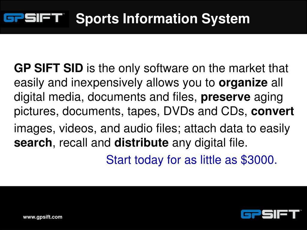 Sports Information System