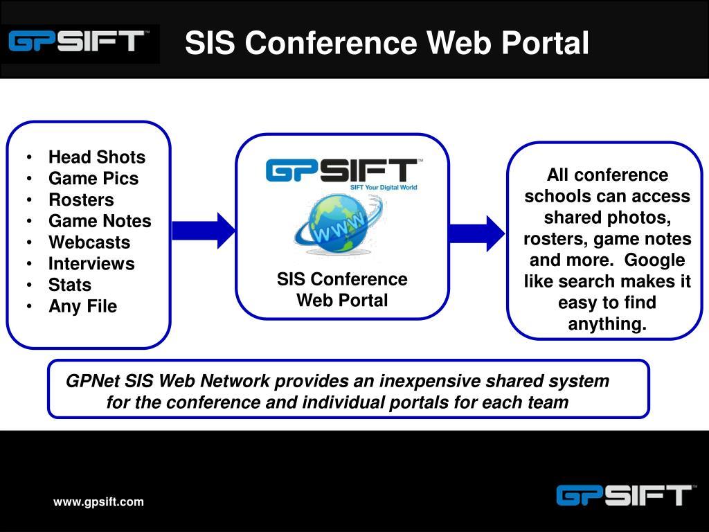 SIS Conference Web Portal