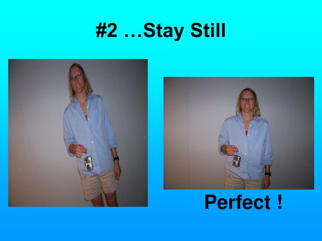 #2 …Stay Still