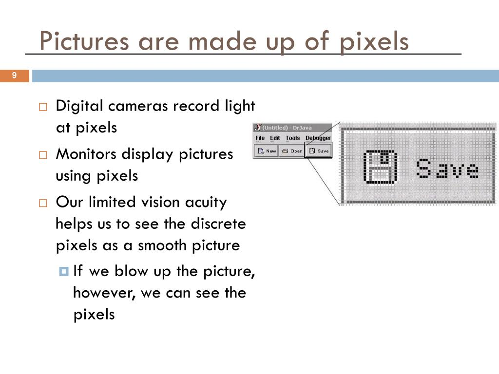 Digital cameras record light at pixels