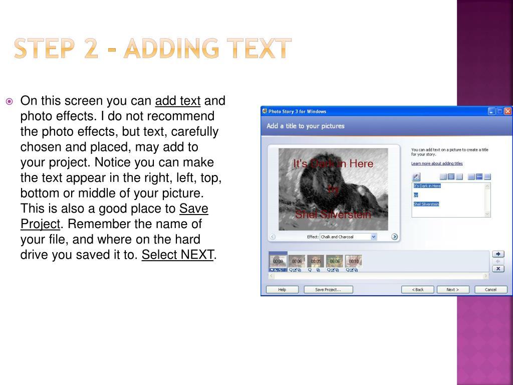 Step 2 - Adding Text