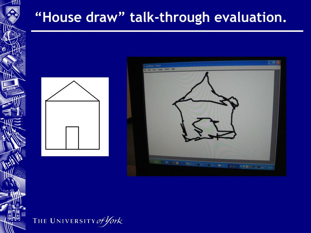 """House draw"" talk-through evaluation."