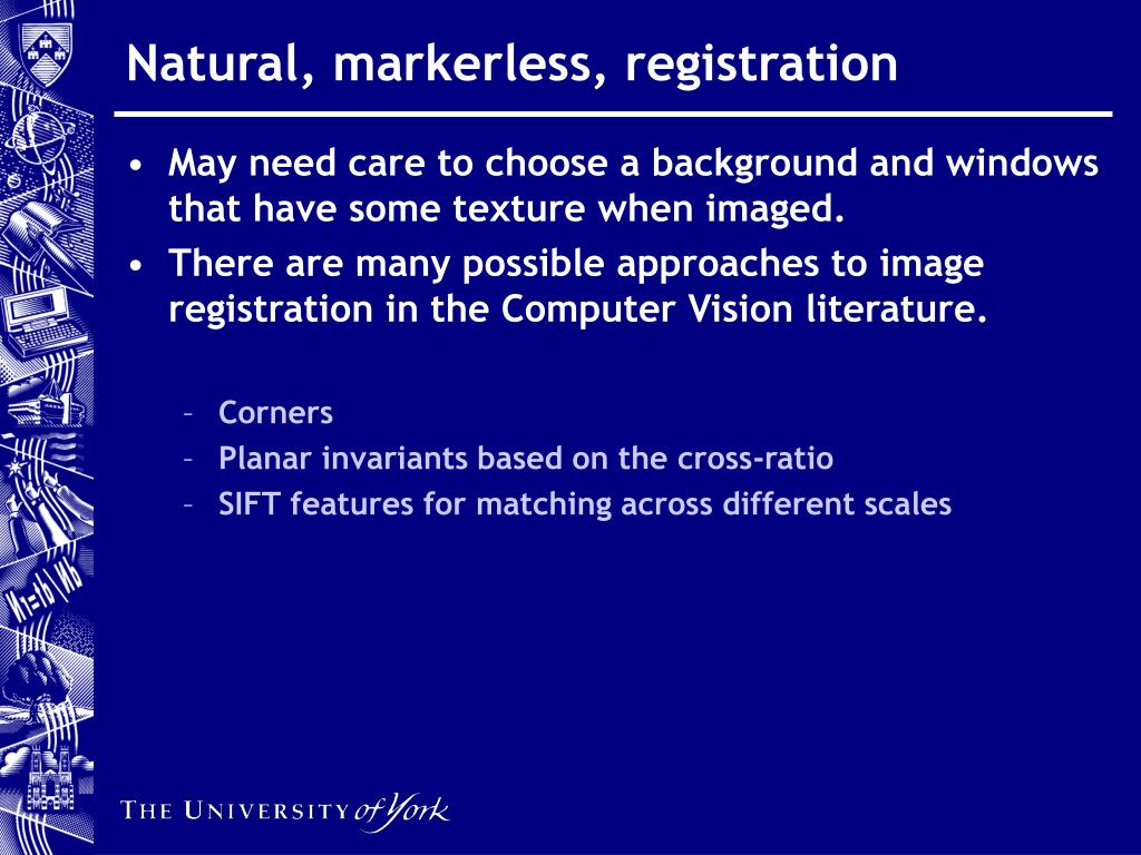 Natural, markerless, registration