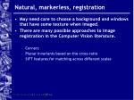 natural markerless registration