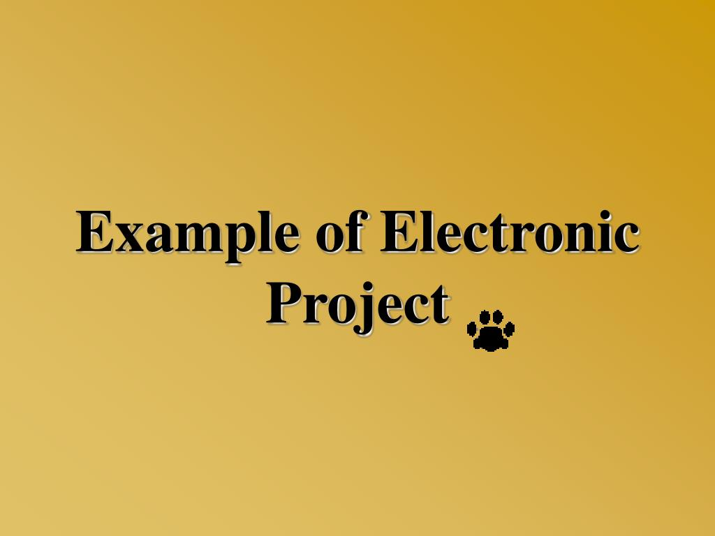 Example of Electronic Project