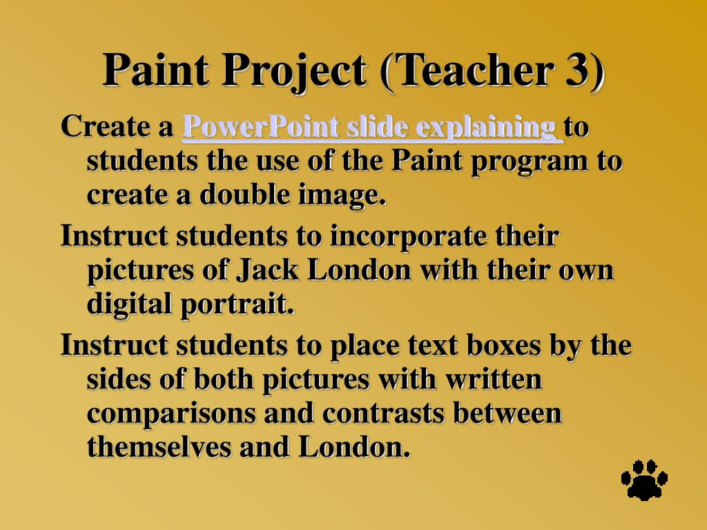 Paint Project (Teacher 3)