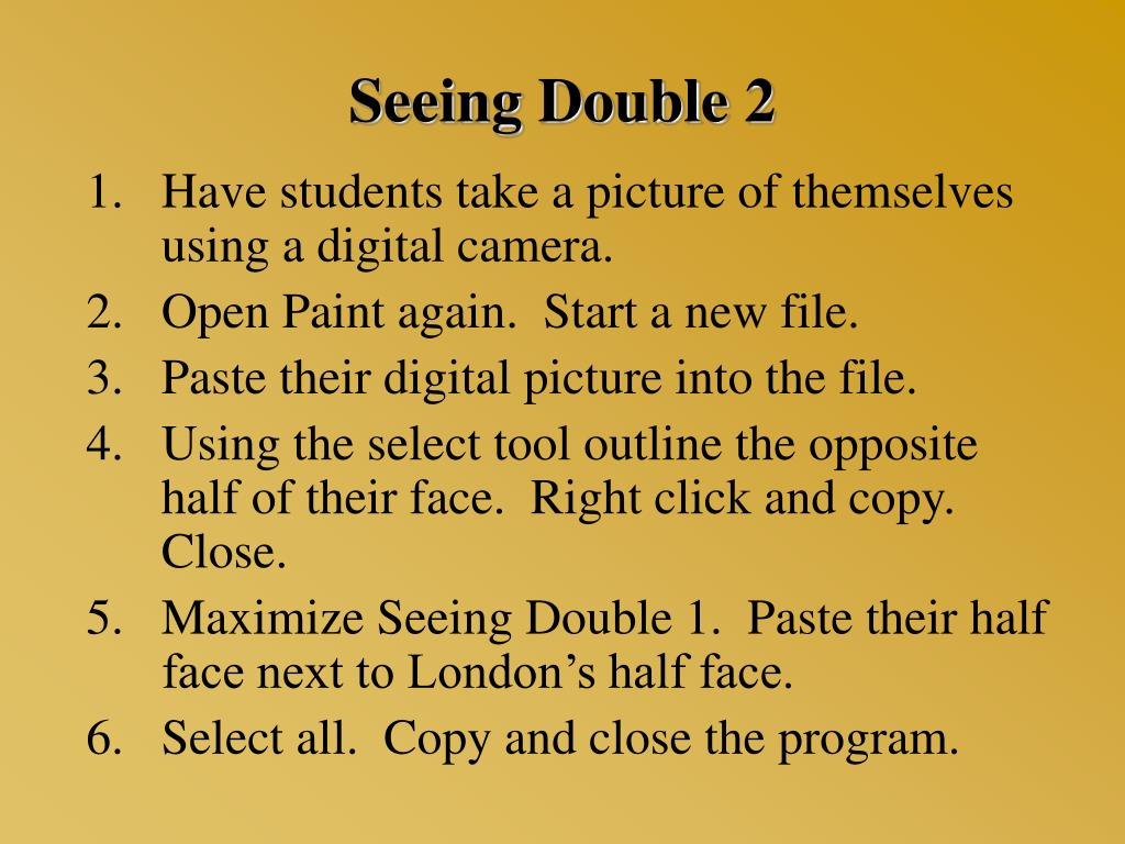 Seeing Double 2