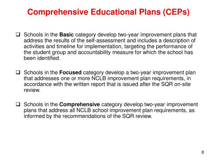 Comprehensive Educational Plans (CEPs)