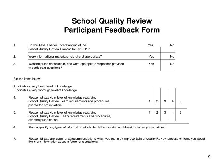 School Quality Review