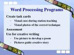 word processing programs