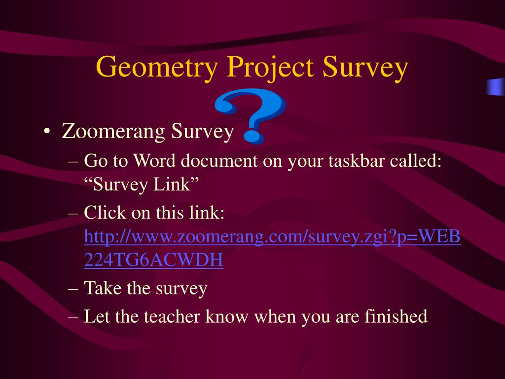 Geometry Project Survey