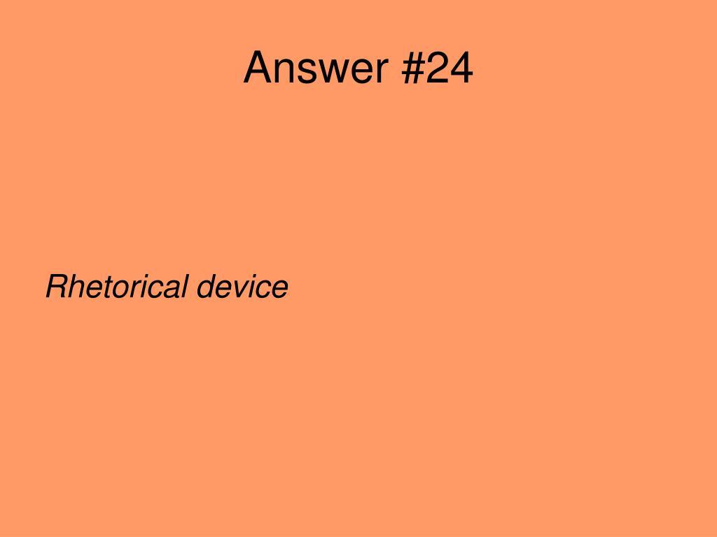 Answer #24