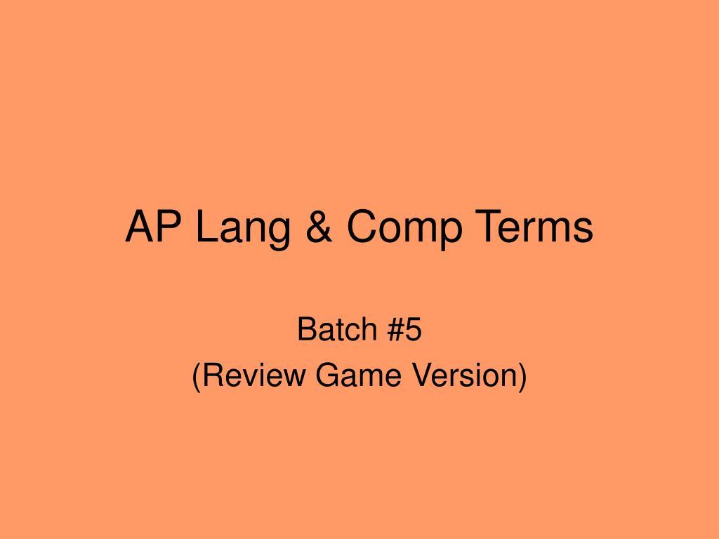 AP Lang & Comp Terms