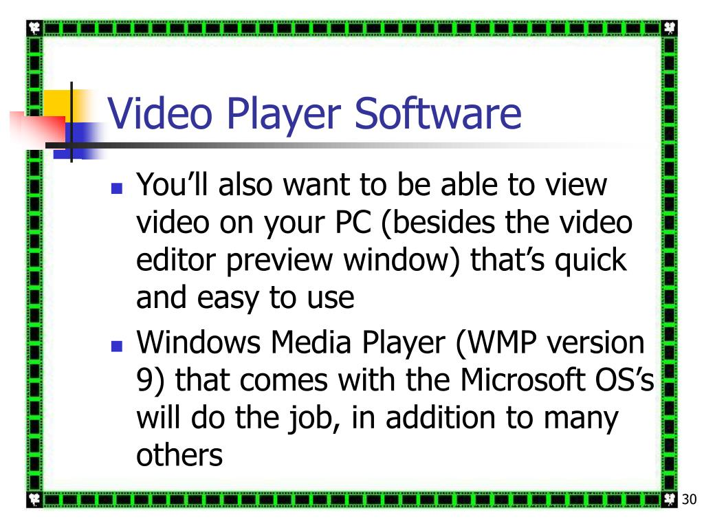 Video Player Software