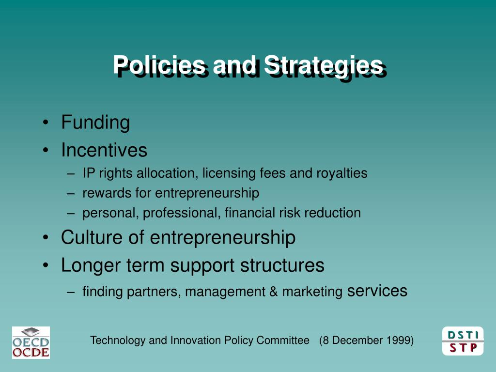 Policies and Strategies