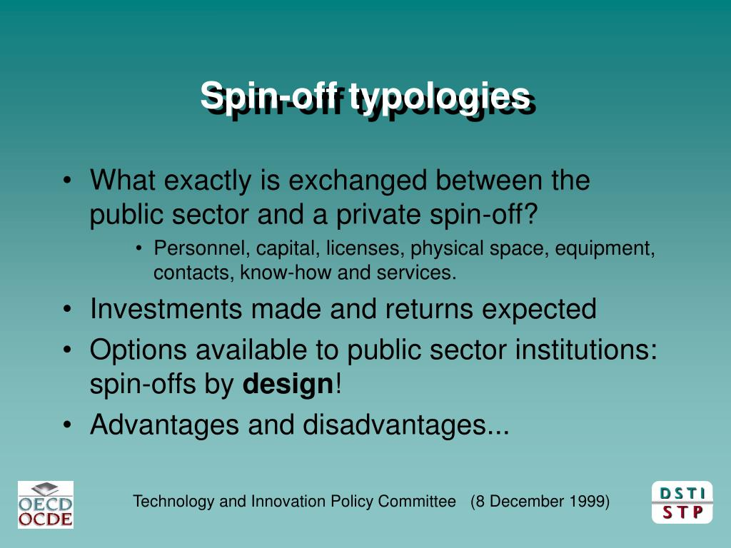 Spin-off typologies