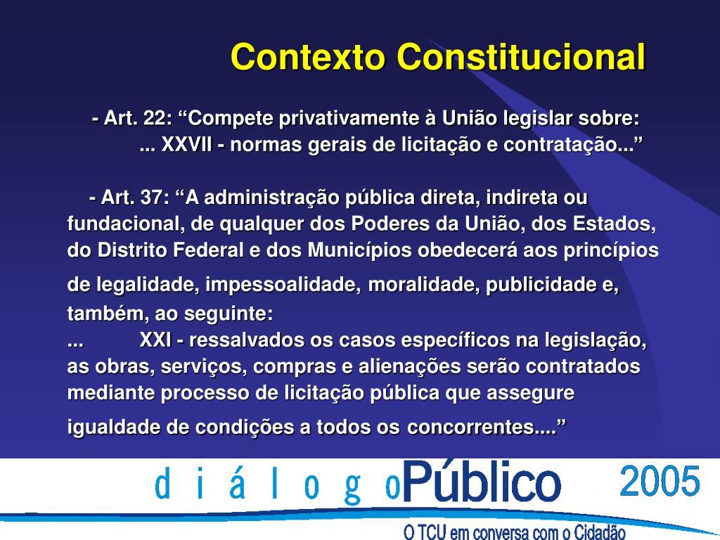 Contexto Constitucional