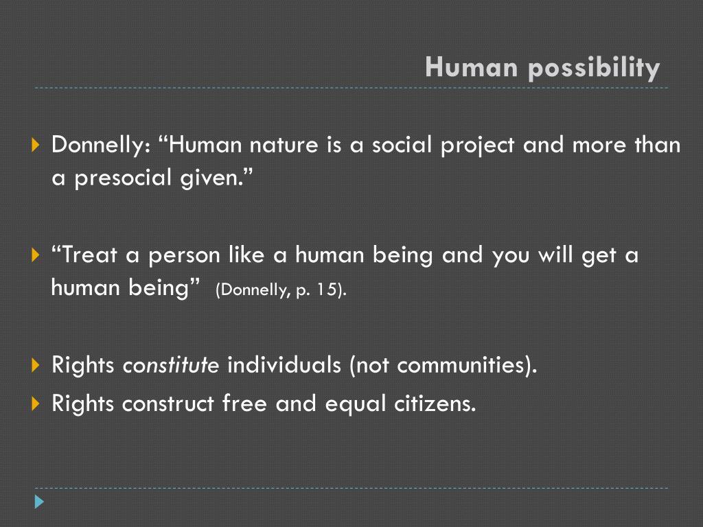 Human possibility