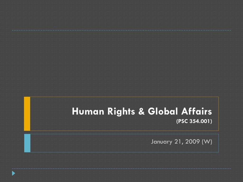 Human Rights & Global Affairs