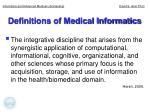 definitions of medical informatics5