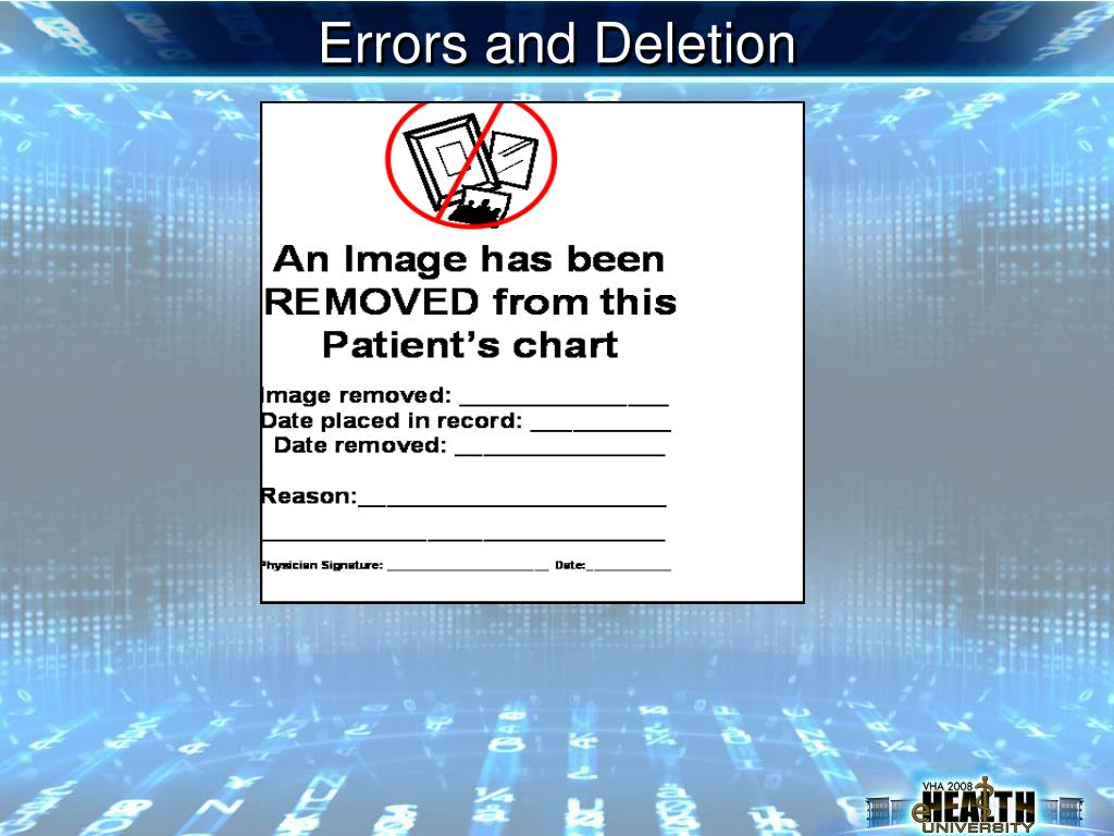 Errors and Deletion
