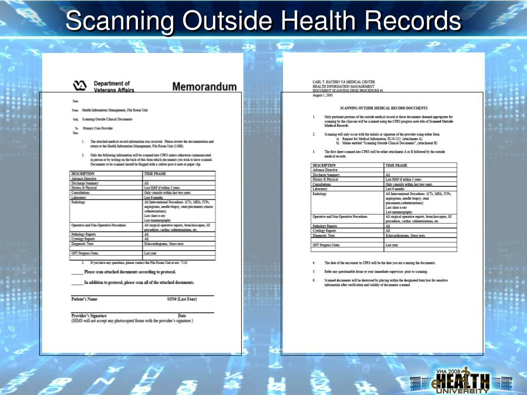 Scanning Outside Health Records