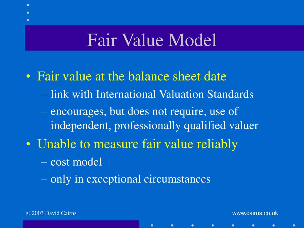 Fair Value Model