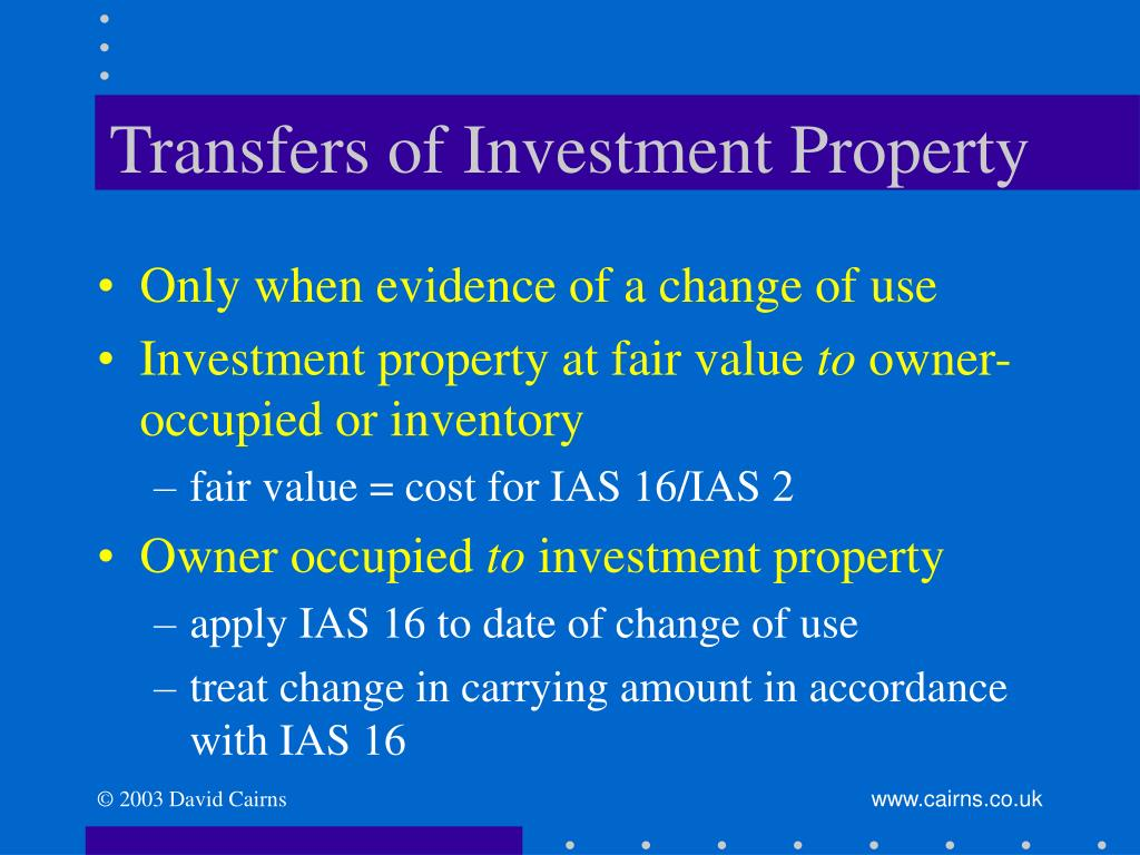 Transfers of Investment Property