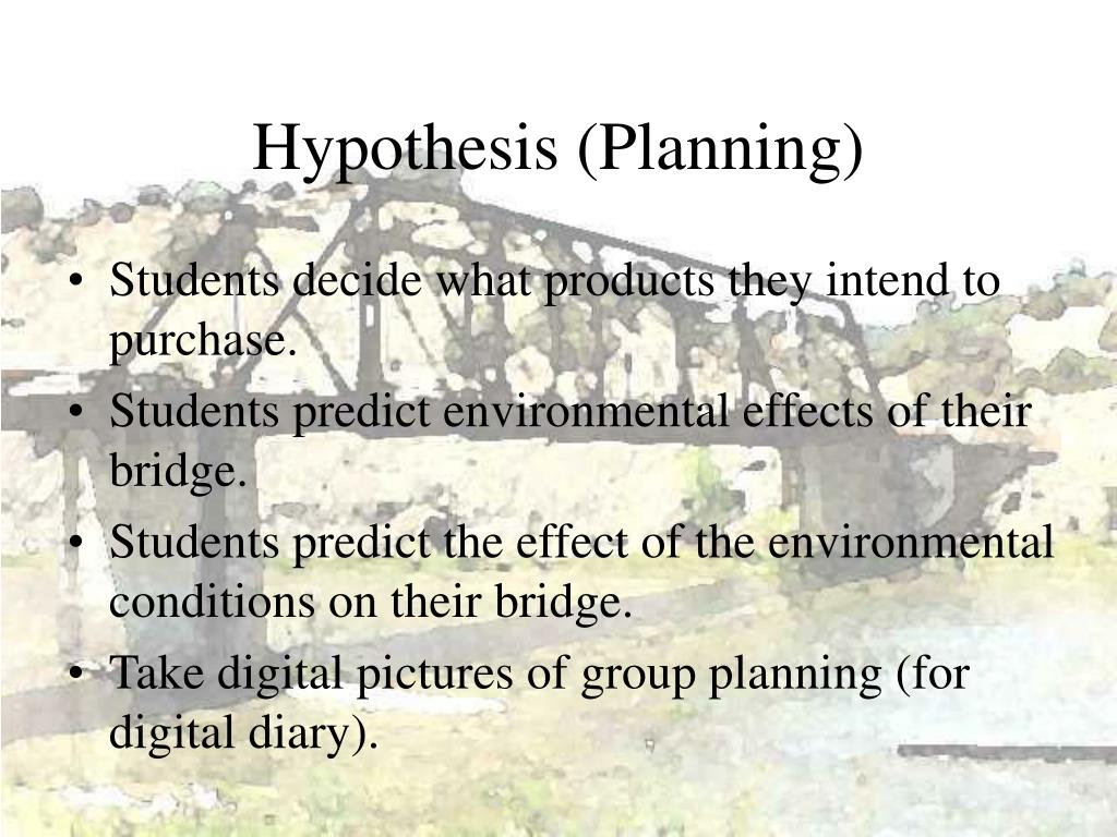 Hypothesis (Planning)
