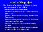 aim s of the project