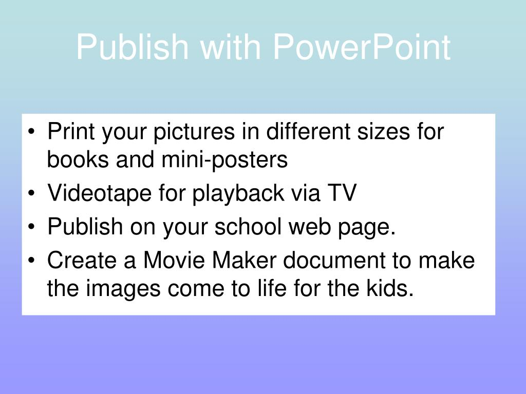 Publish with PowerPoint