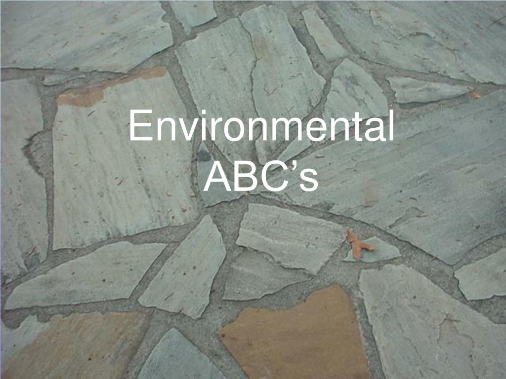 Environmental ABC's