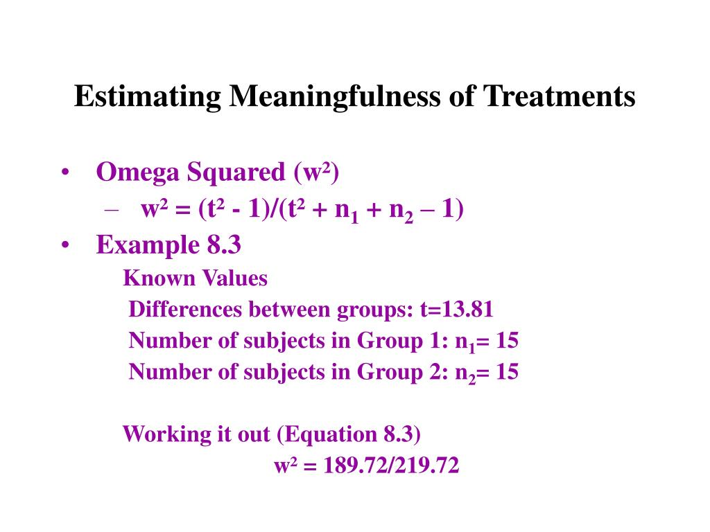 Estimating Meaningfulness of Treatments