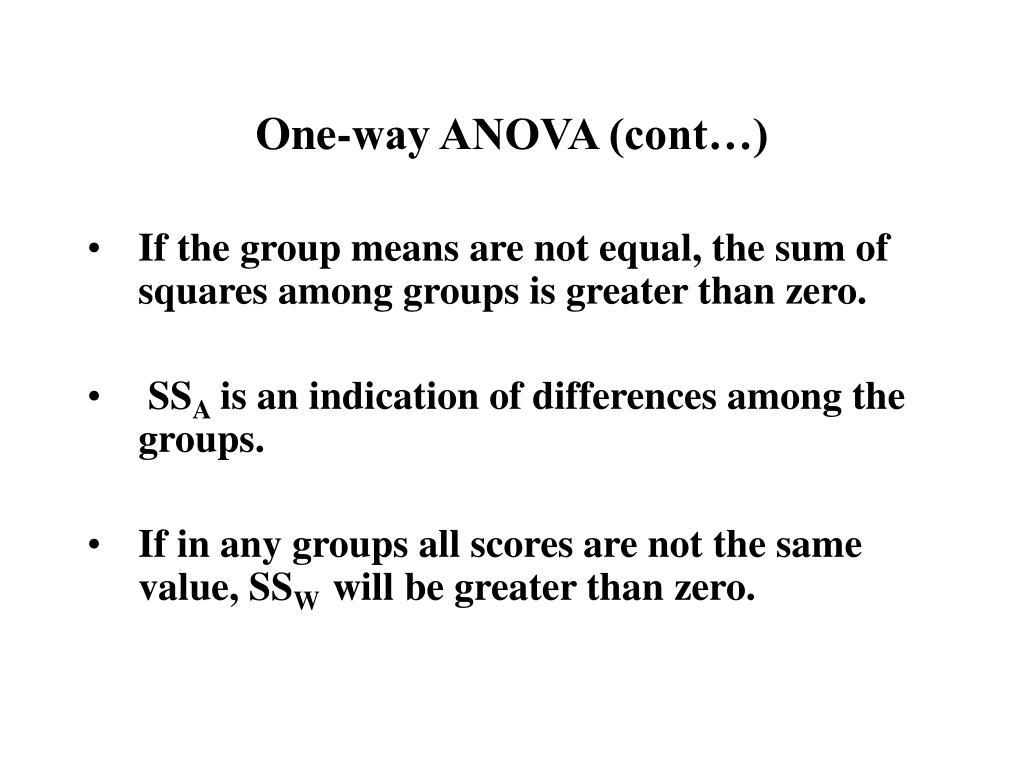One-way ANOVA (cont…)