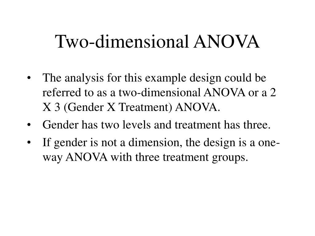 Two-dimensional ANOVA