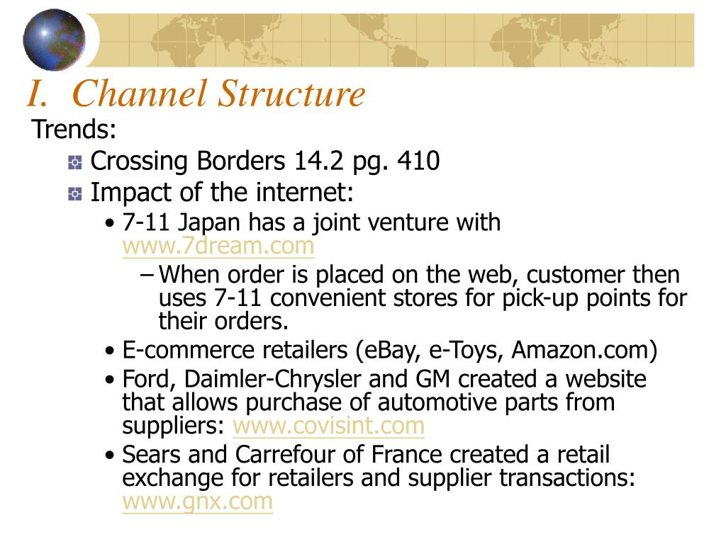 I.  Channel Structure